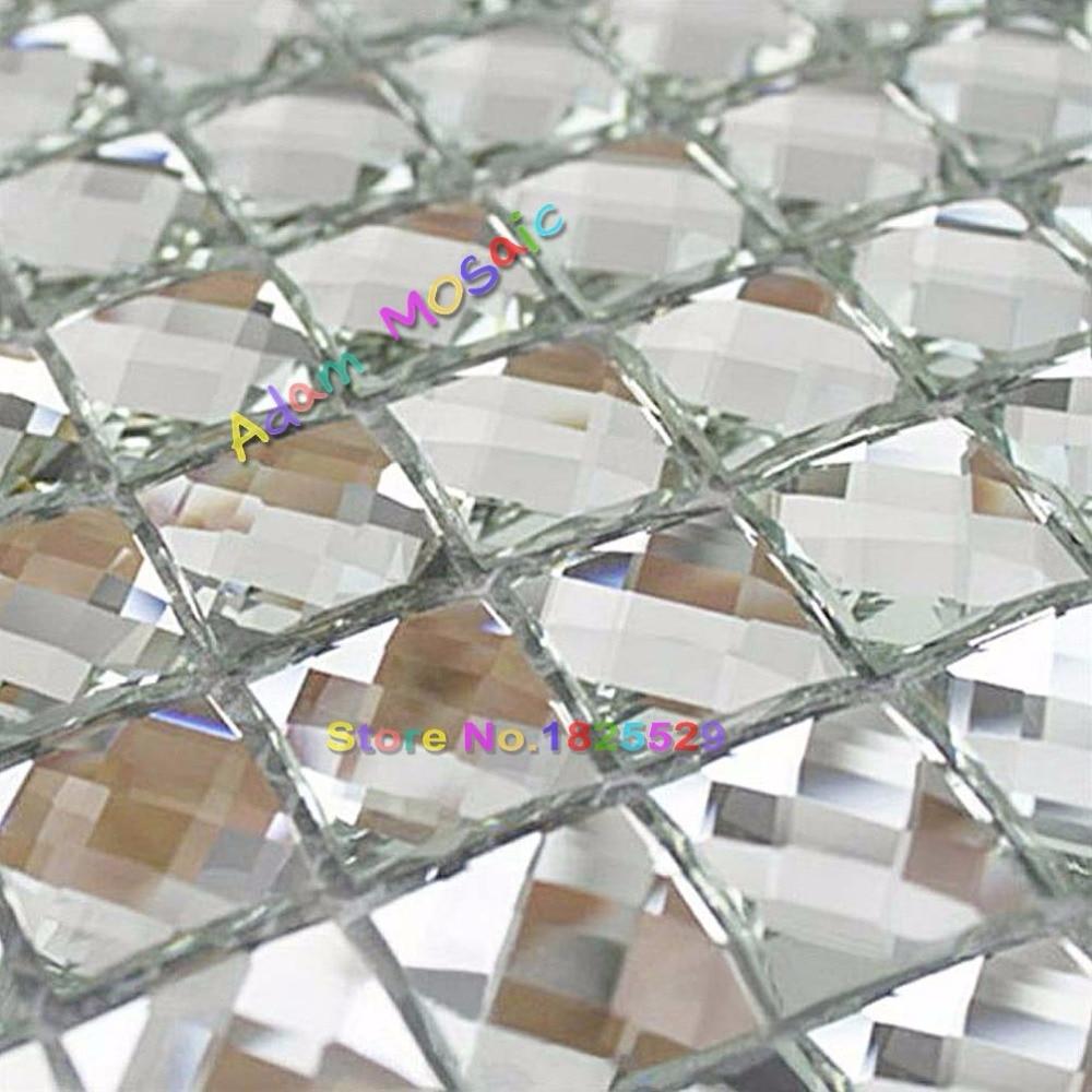 Spiegel Fliesen Silber Bad Wand Blätter Kristall Diamant Mosaik Fliesen Backsplash  Küche Kegelglasgrößen U Bahn