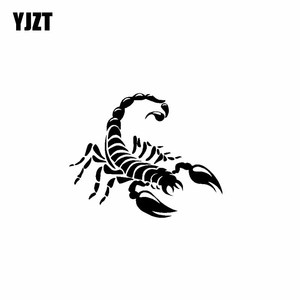 YJZT 15.5CM*12.6CM Valiant Scorpion Delicate Dazzling Predator Car Sticker Vinyl Decal Black/Silver C19-0430