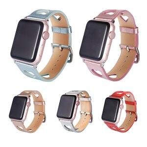 Image 5 - עור צפו בנד עבור אפל שעון רצועת 38mm 42mm נשים ספורט צמיד עבור iwatch 5 4 3 2 1 צמיד