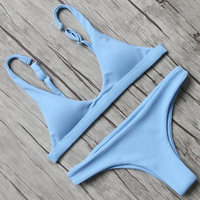 RUUHEE Bikini 2018 Sexy Swimsuit Women Halter Bandage Swimwear Female Thong Bikini Set Push Up Bathing