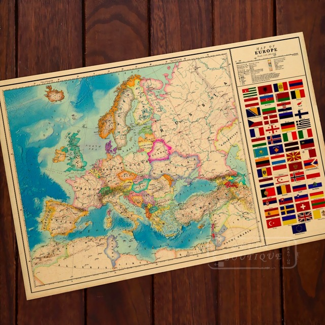 Alternate History Map Of Europe WW Vintage Retro Classic Poster - Vintage europe map poster