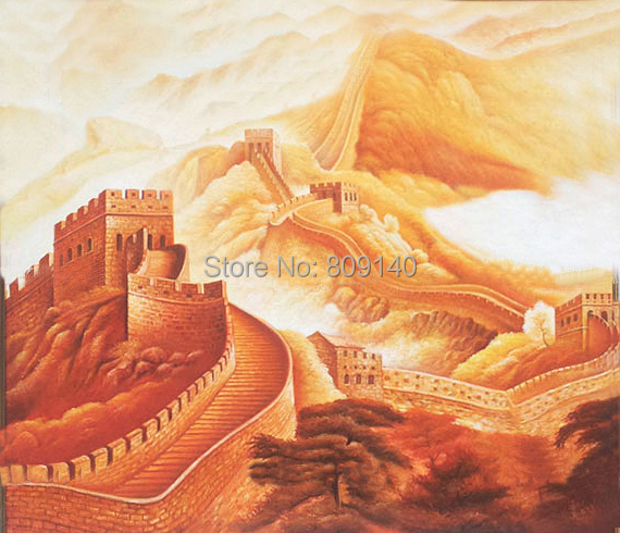 Chinese Great Wall oil painting canvas Stretched Artwork high ...