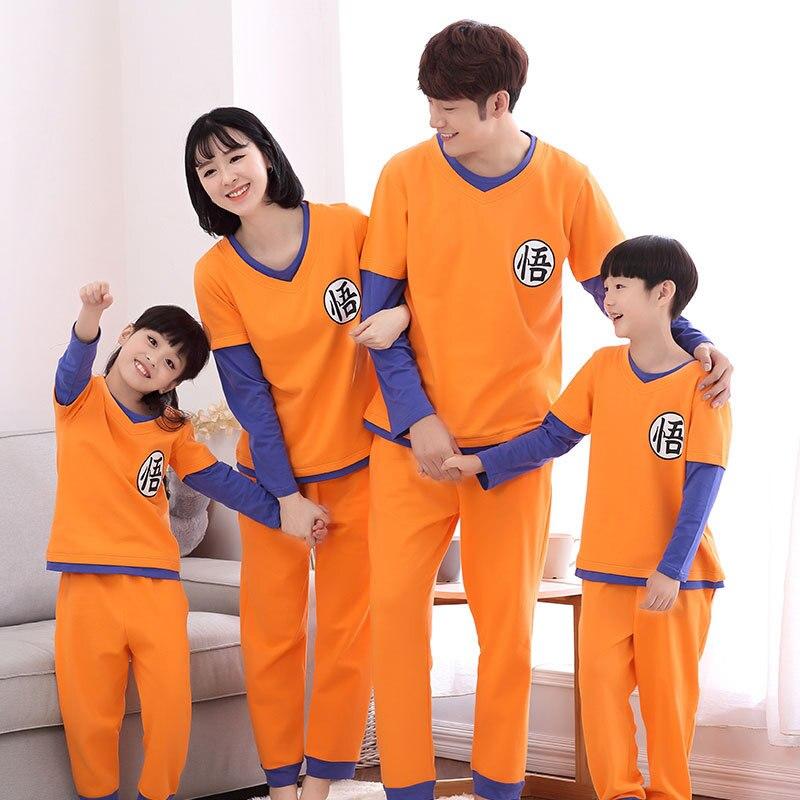Dragon Ball Famiglia Pigiama Set Famiglia Di Natale Outfit Pijama Mommy And Me Vestiti Mamma Figlia Sun Wukong Abbigliamento Famiglia