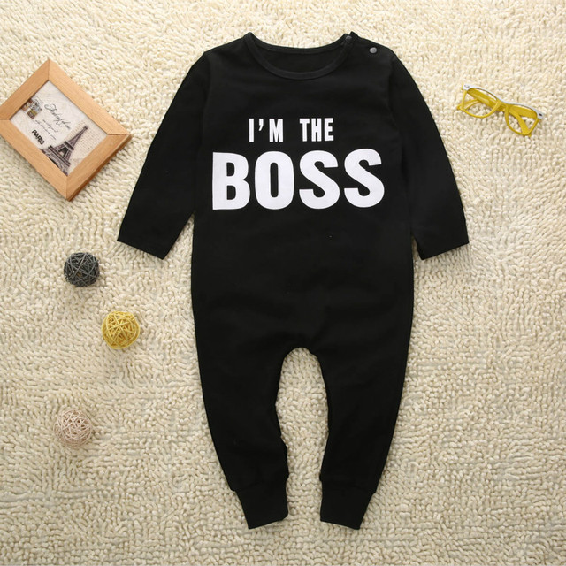 3b902e0eb Boss baby boys girls rompers long sleeve boys spring autumn rompers ...
