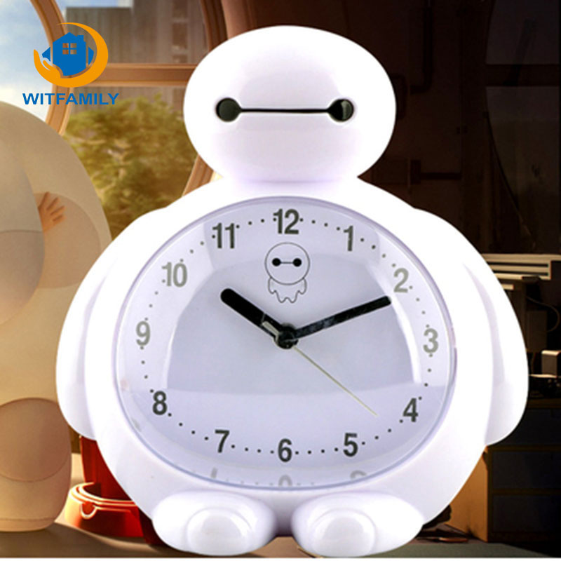 Child Cartoon Alarm Clock Cute Little Alarm Clock Table Control LED Display Electronic Desktop Digit Mini Travel Clock 3 Alarms