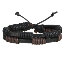 IF ME 5pcs/set  Leaf Multilayer Leather Bracelets For Men Fashion Style Bracelets & Bangles Vintage Charms Bracelets Gifts