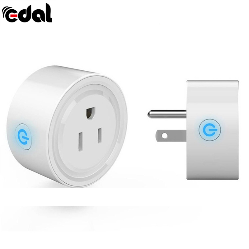 EDAL Mini WiFi Smart Remote Control Switch Power Socket Timing Socket Outlet Home Voice Remote Control Switch Compatible US Plug