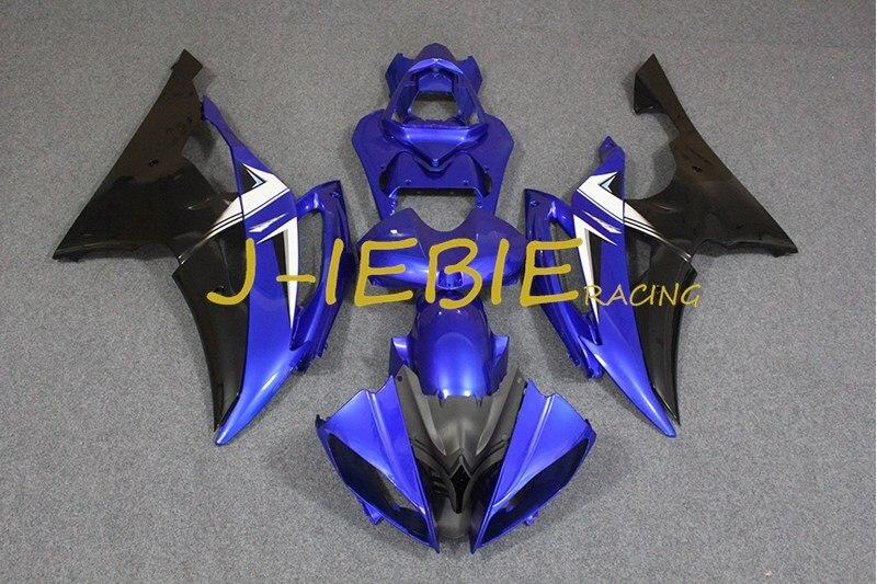 Blue black Injection Fairing Body Work Frame Kit for Yamaha YZF 600 R6 2008-2015