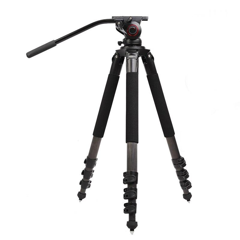 Miliboo MTT702B 25 KG ours en Fiber de carbone vidéo professionnel caméra trépied support MYT803 tête fluide avec rotule hydraulique