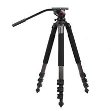 цена на miliboo MTT702B Portable Carbon Fiber Tripod for Professional Camcorder/Video Camera/DSLR Tripod Stand,with Hydraulic Ball Head