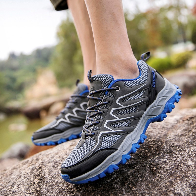 Shoes Men Sneakers Trekking Climbing-Mountain-Zapatos-De-Hombre Outdoors Breathable Mesh