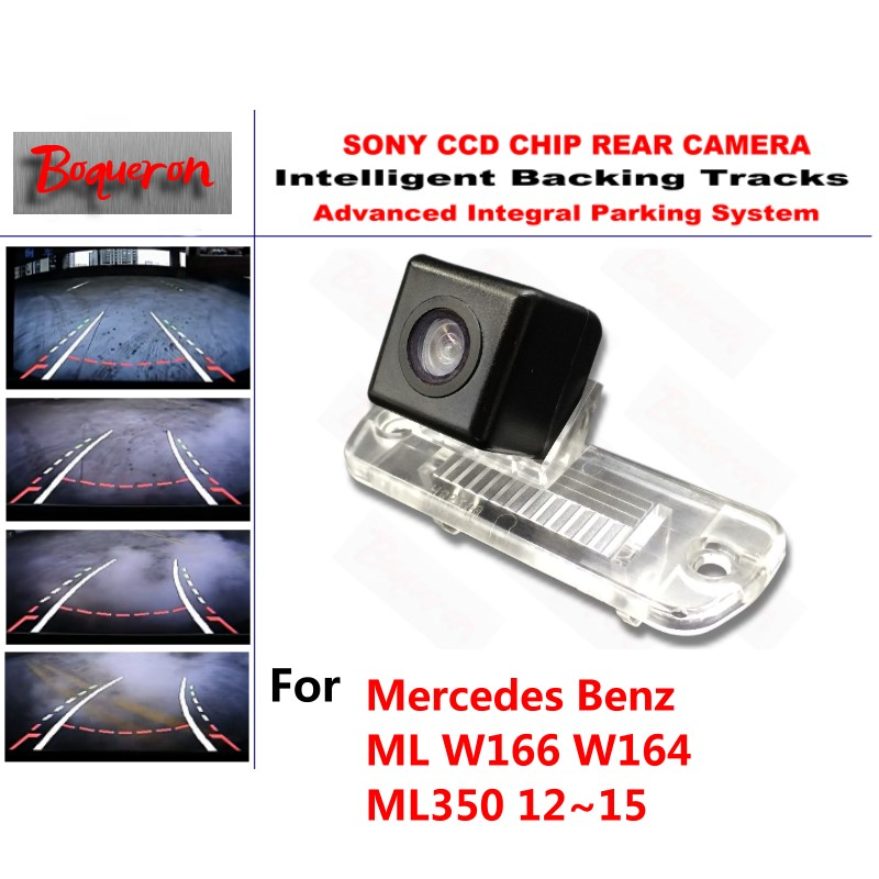 for Mercedes Benz ML W166 W164 ML350 12~15 CCD Car Backup Parking Camera Intelligent Tracks Dynamic Guidance Rear View Camera