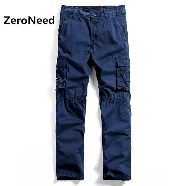 Mens Cargo Pants Blue Pantalon Baggy Cargo Pants Men Trousers Baggy  Pantalons Homme Elastic Cotton Jogger Long Outdoors Pants 71 642d3df43518