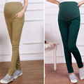 Fashion Pants For Pregnant Women Top Quality Elastic Waist 4 Colors Maternity Pants Leggings Stretch Clothes VCR43 T50
