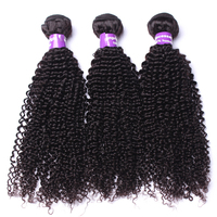 Brazilian Kinky Curly Weave Human Hair Bundles 3 Pcs 100% Natural Human Hair Extension Natural Black Color Remy Hair CARA