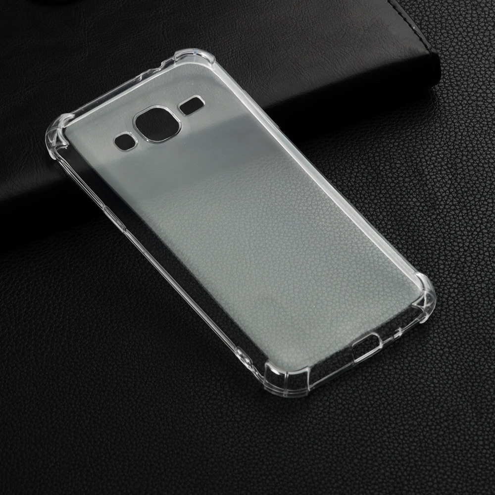 High quality transparent reinforced Anti-falling Soft Silicone phone case For Samsung Galaxy <font><b>J3</b></font> <font><b>2016</b></font> J310 coque funda etui cover image