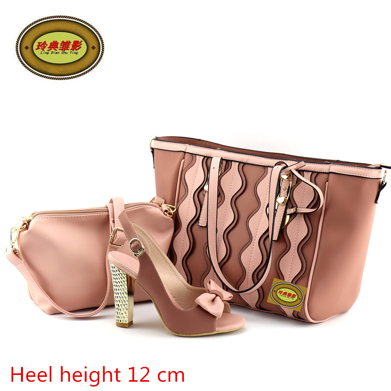 JY2018-01 2018 New Design Upscale Shoes And Bags High Quality Hot Sale European Ladies Shoes And Bags Sets Free Shipping g41 wonderful pattern european ladies shoes and bags sets with stone high quality women high heel with bag sets free shipping