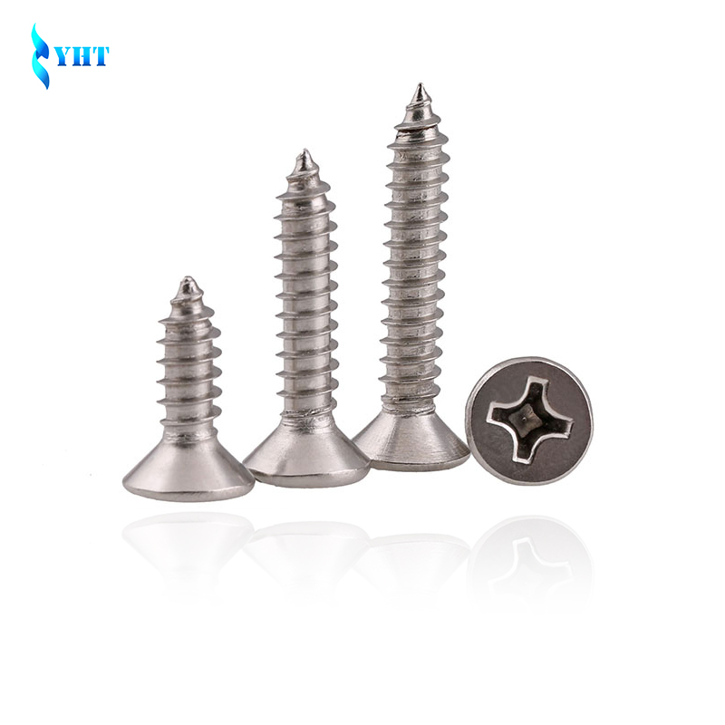 DIN7982 GB846 M2.2 M3 M3.5 M4 M4.2 M4.8 304 Stainless Steel Cross Recessed Flat Head Screws Phillips Self-tapping Wood Screws 50pcs m2 m2 5 m3 m4 iso7045 din7985 gb818 304 stainless steel cross recessed pan head screws phillips screws hw002