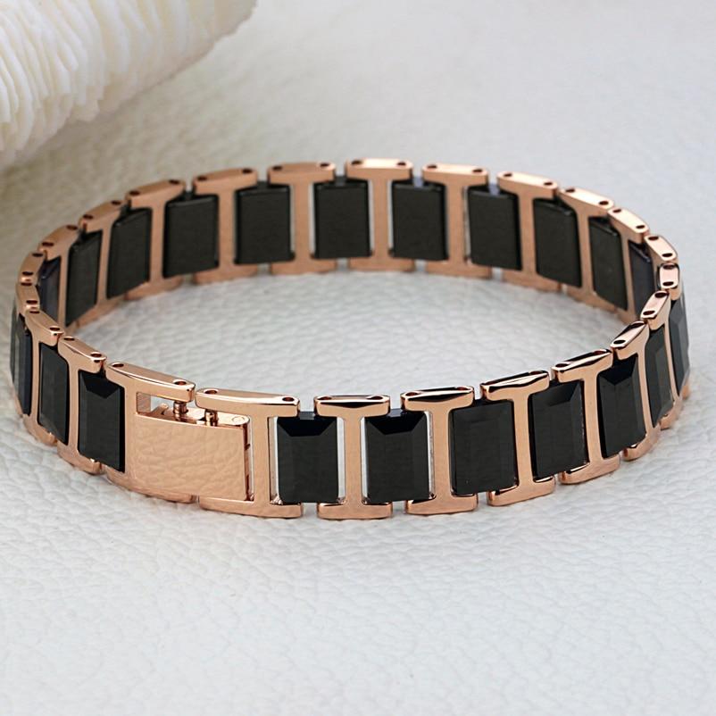 Fashion Men S Jewelry 2013 High Grade Quality Rose Gold Black Space Ceramic Bracelet N441 Black Bracelet Pen Bracelet Importerbracelet Watch Aliexpress