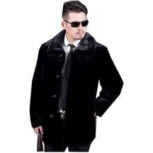 2017 Parka Warm Winter Men's Faux Fox Fur Collar Thicking Fur Coat Cheap