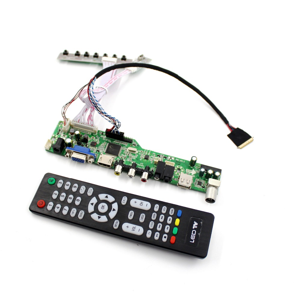 M6V5 <font><b>LCD</b></font> <font><b>TV</b></font> controller <font><b>board</b></font> support <font><b>TV</b></font> <font><b>AV</b></font> <font><b>VGA</b></font> Audio <font><b>USB</b></font> <font><b>HDMI</b></font> for 1366X768 <font><b>LCD</b></font> panel LTN156AT02 N156B6-L0B N156BGE-L41 40 pin image