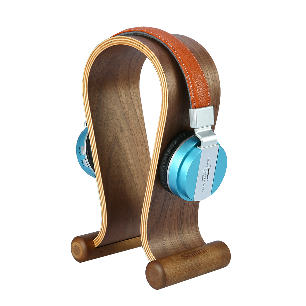 universal headphone acrylic headset earphone stand holder display for headphones bracket for ipad holder black rack hanger Wooden Walnut Wood Headphone Gaming Headset Display Stand Holder Hanger for headset headphone earphone tablets tablet
