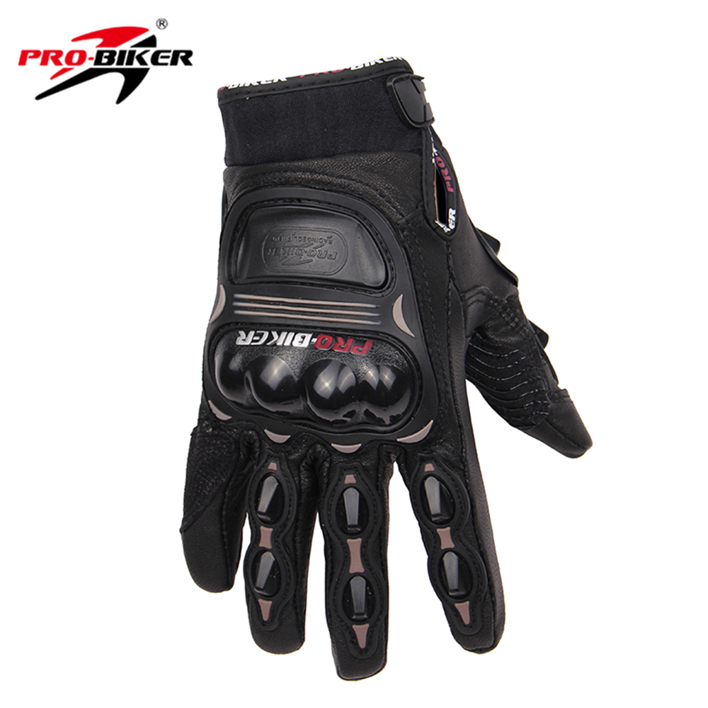 Womens leather motorcycle riding gloves - Pro Biker Motorcycle Gloves Men Women Motocross Off Road Gloves Genuine Goat Leather Racing Gloves