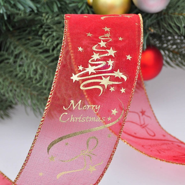200cm Christmas Tree Decorations Ribbons Party Supply Xmas Bow Ribbon High-Grade Christmas Decorations For Home 1