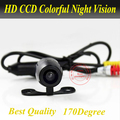 Mini Universal Car Rear View Camera , CCD Car Front / Side View Camera with WaterProof IP69K Wide Angle 170 Degrees FreeShipping