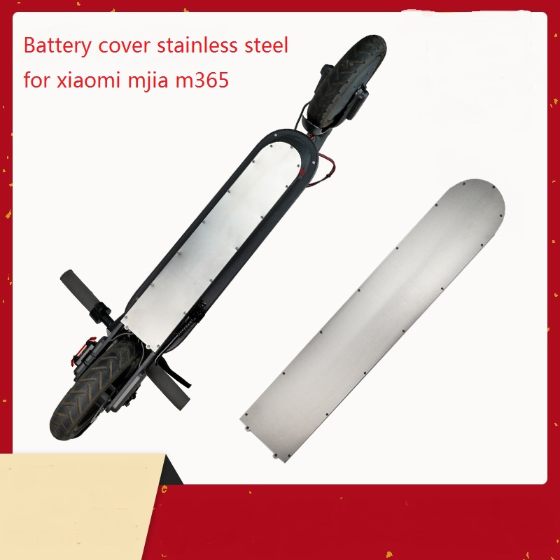 Battery cover 304 stainless steel bottom plate For XIAOMI MIJIA M365 Electric Scooters Waterproof thickening M365Pro Accessories