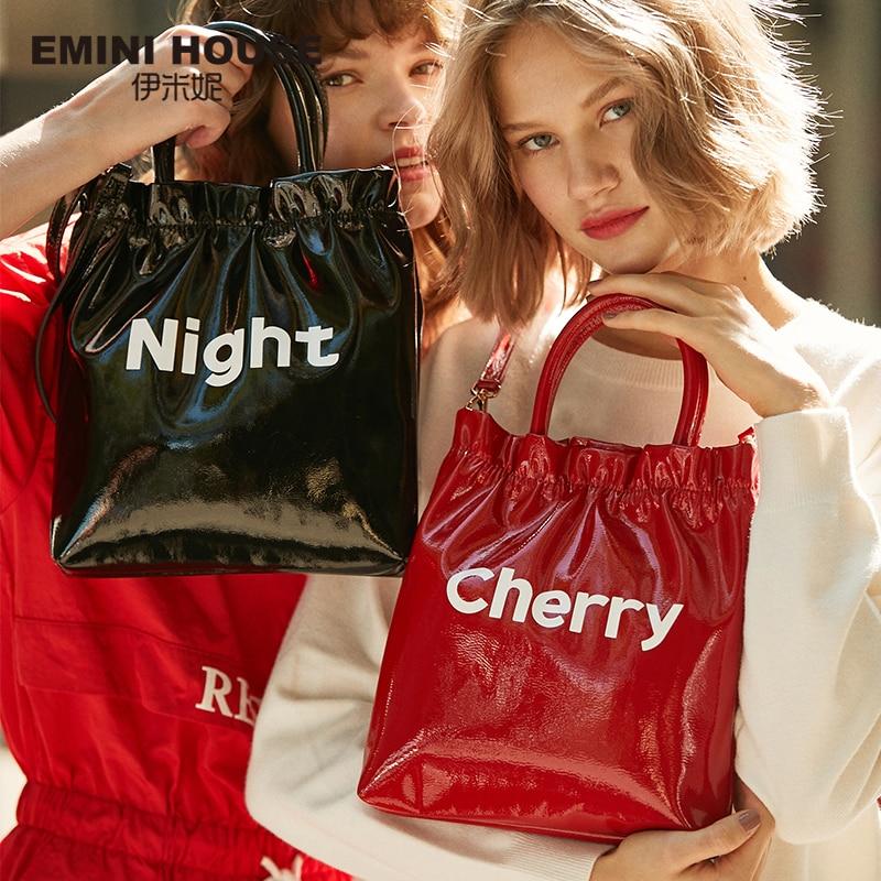 Tote-Bag Crossbody-Bags Bags Designer Fruit-Letters Emini House Women Luxury Patent