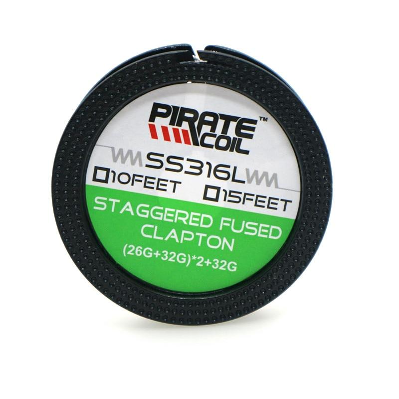 PIRATE SPULE 100% Original 10ft SS316L (26GA + 32GA) x2 + 32GA SS ...