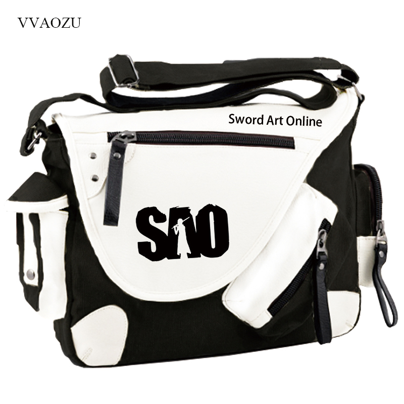 New Sword Art Online Cosplay Bag Kirigaya Kazuto SAO Anime Student Shoulder Bag Travel Laptop Bag Satchel adult fashion sword art online long straight hair cosplay wig anime party free
