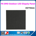 25pcs 1 square meter p6 rgb led panel 192x192mm 32x32 pixel 1/8 scan led display modules hight brightness outdoor led sign board