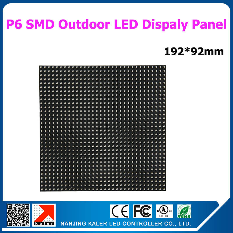 Kaler 25pcs /LOT  P6 Rgb Led Panel 192x192mm 32x32 Pixel 1/8 Scan Led Display Modules Hight Brightness Outdoor Led Sign Board
