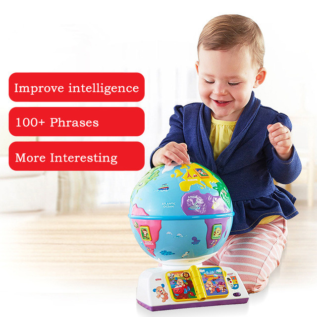 2018 New Baby Learning Toy Played A Globe Bilingual DWN38 ...