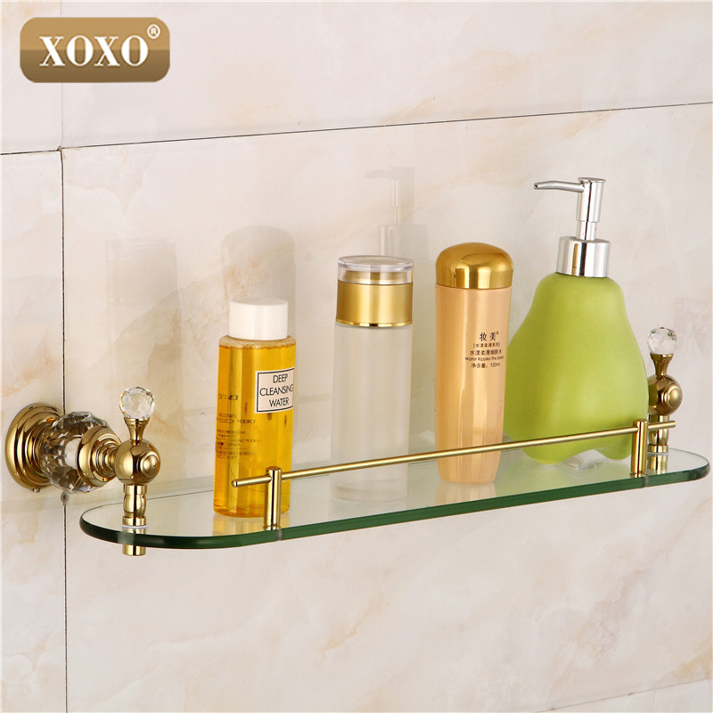Xoxo bathroom accessories crystal copper gold plated for Gold glass bathroom accessories