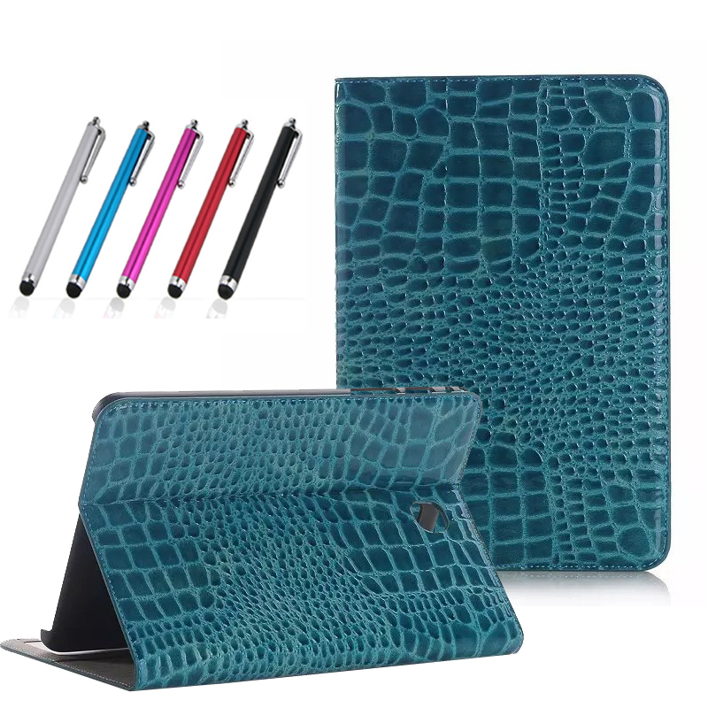 fashion crocodile PU leather case for samsung galaxy tab A 8.0 T350 T355 SM-T355 8'' tablet cover case T350 folio stand case аксессуар чехол samsung galaxy tab a 7 sm t285 sm t280 it baggage мультистенд black itssgta74 1