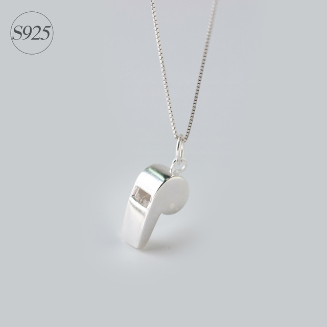 Real. 925 sterling silver GTLX755 apito Colar & Pingentes charme presente da jóia