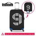 Dispalang розничная номер 9 23 печати аксессуары для путешествия багаж чемодан защитные чехлы для 18-30 дюймов эластичный водонепроницаемый чехол