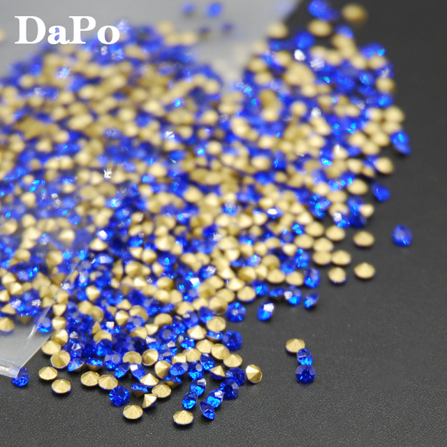 Sapphire Color Glass Point Back Chaton Hot Sale SS4-SS30 Round Crystal  Rhinestones Glue Beads Stones Wedding Dress 2256410aa583