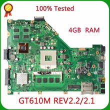 KEFU X55VD PM nuevo motherboard REV2.1 madre del ordenador portátil para ASUS X55VD/2.2 4G RAM No Integrada freeshipping 100% probado