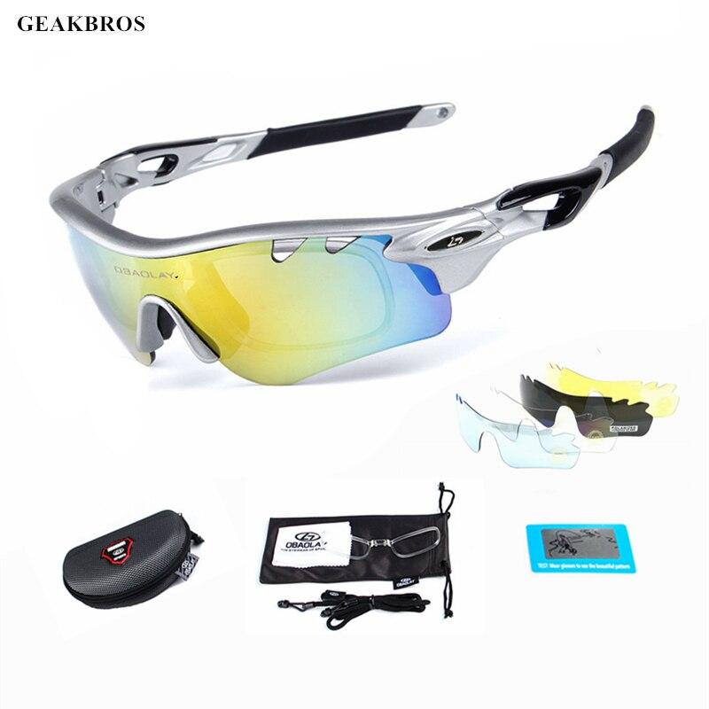 Cycling Glasses Sunglasses Bike Anti-fog Polarized Bicycle Lens Eye wear Goggles