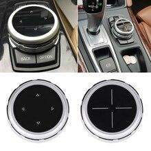 QILEJVS Aluminum Alloy Multimedia Button Cover Interior Control Button Switch For BMW  -M15