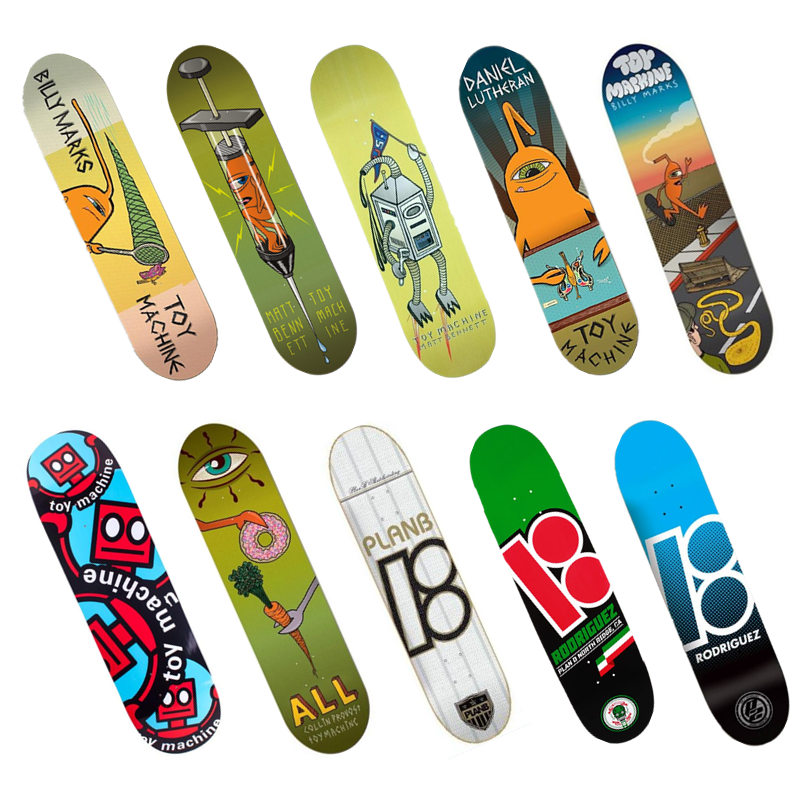 High Quality Original USA Brand Skateboard Deck 8.25 8.125 8 Canadian Maple Wood Double Rocker Pro Skate Board Decks 1 set quality usa complete skateboard deck 7 875 8 8 125 8 25 inch