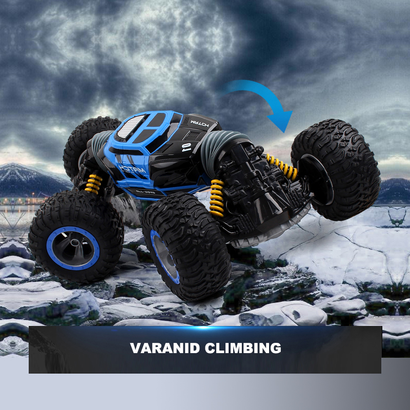 RC Car Remote Control Car Cool Toy Varanid Double-sided One Key Transformation All-Terrain Climbing Car 2.4G RC Vehicle Gift double sided 2 4ghz rc car one key transform all terrain off road vehicle varanid climbing truck remote control toys