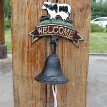 Cast Iron Dinner Bell Holstein Dairy Cow Colorful Doorbell