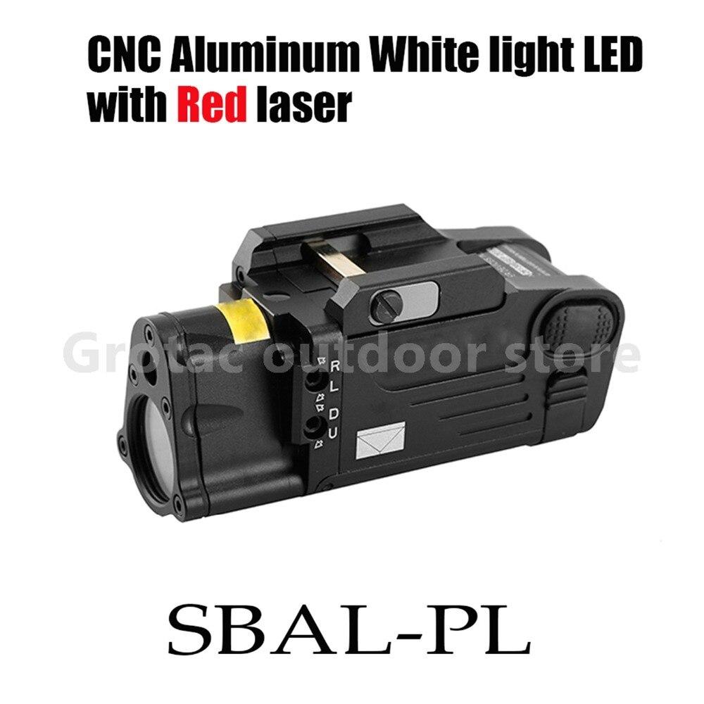 Tactique Laser lampe de Poche SBAL-PL Chasse Arme Légère Combo Rouge Laser Pistolet Constante & Strobe Éclairage au Pistolet Picatinny Rail
