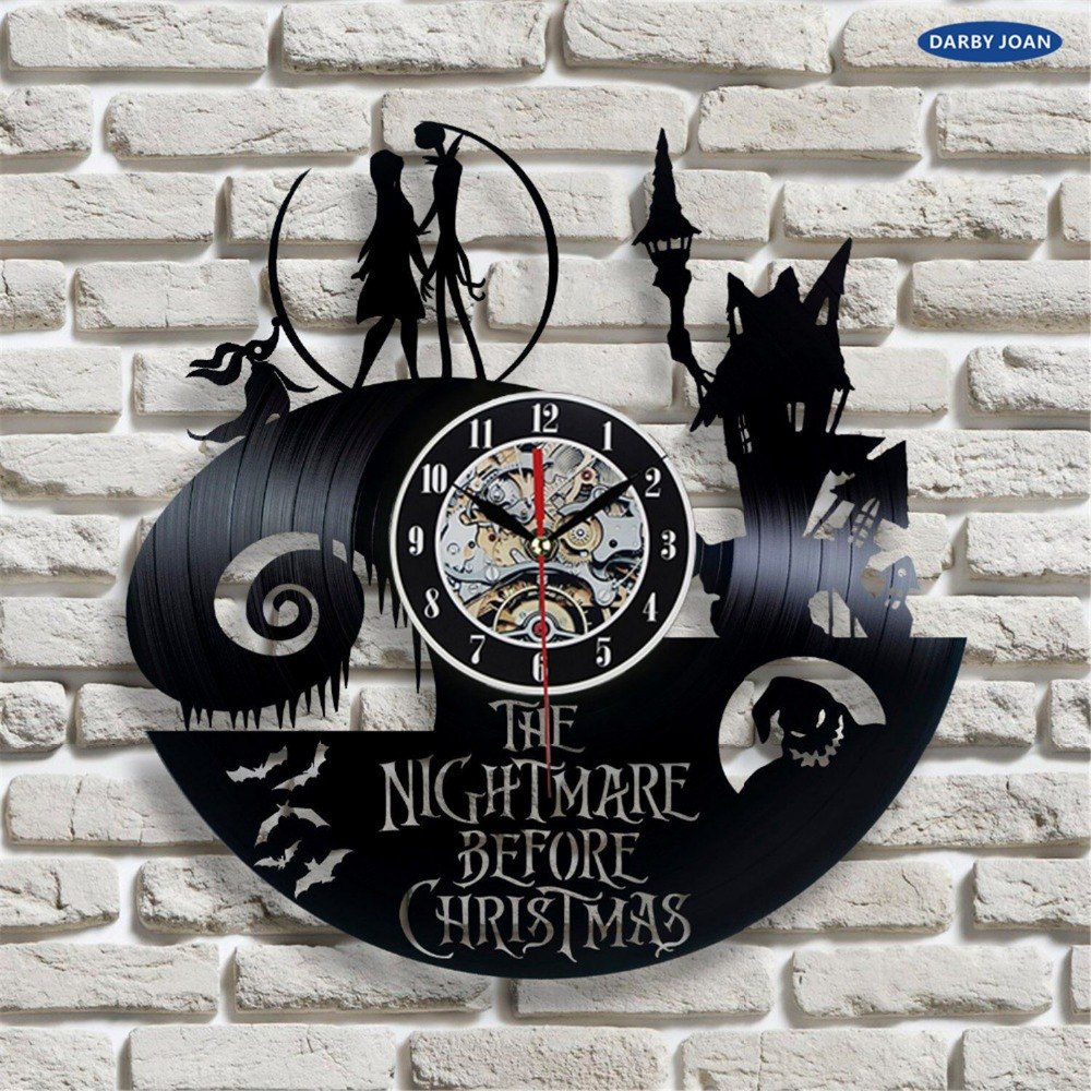 The Nightmare Before Christmas Movie Love Story Vinyl Record Wall ...
