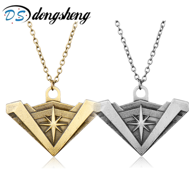 dongsheng Newest DC Superhero Wonder Woman Necklace Golden Supergirl Logo Pendant Necklace For Women Charm Accessories -30
